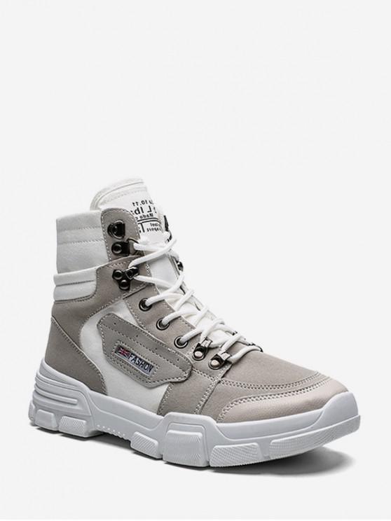 Parche de tela botas de tobillo por carretera - Blanco EU 39