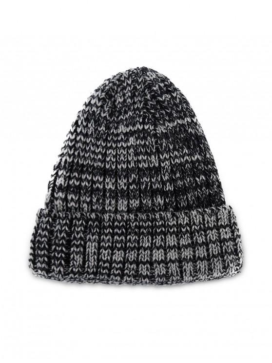 Chapeau d'Hiver Classique Tricotée Simple Elastique - Gris Foncé