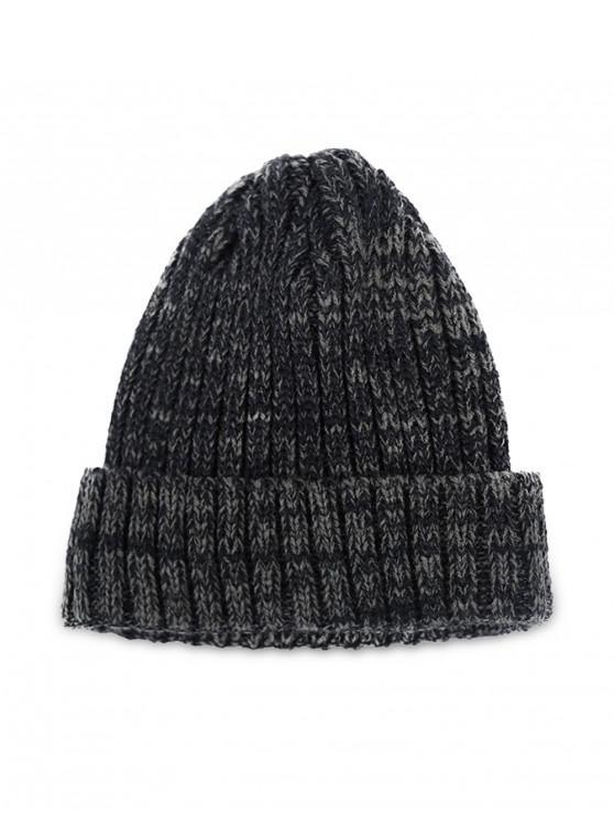 Invierno de punto simple sombrero clásico Elástico - Negro