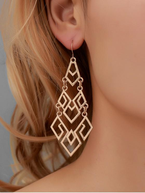 women's Geometric Hollow Out Dangle Earrings - GOLD