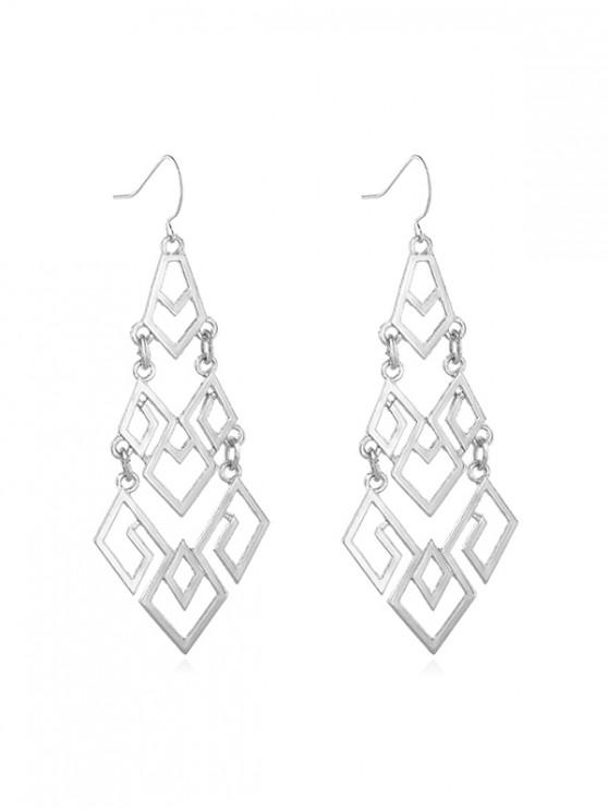 women's Geometric Hollow Out Dangle Earrings - SILVER