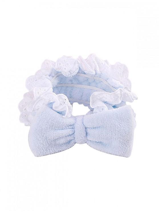 กุทัณฑ์ลูกไม้ยางยืดคาดศีรษะซักผ้า - สีฟ้าอ่อน