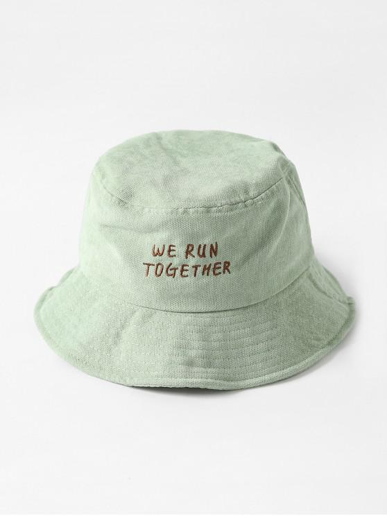 outfit Chic Character Embroidered Bucket Hat - PISTACHIO GREEN