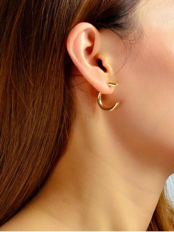 chic Brief C Shape Stud Earrings - GOLD