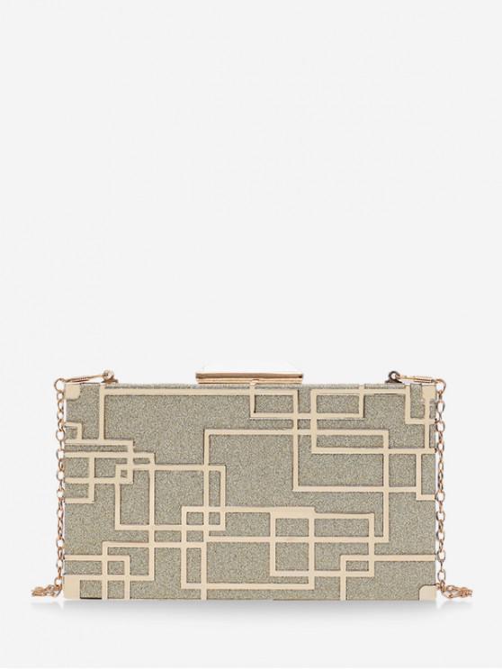 women Shiny Chain Box Crossbody Bag - MULTI-A