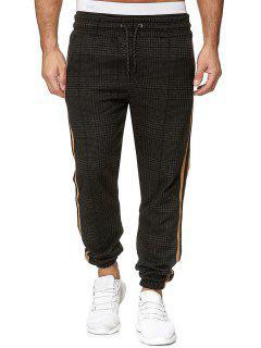 Pantalon De Jogging à Carreaux Imprimé à Cordon - Multi-f 3xl