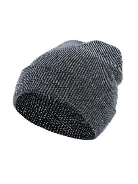 lady Winter Silver Knitted Elastic Hat - SILVER  Mobile