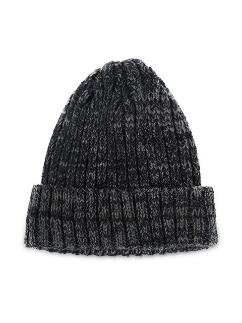 trendy Winter Knitted Simple Elastic Classic Hat - BLACK  Mobile