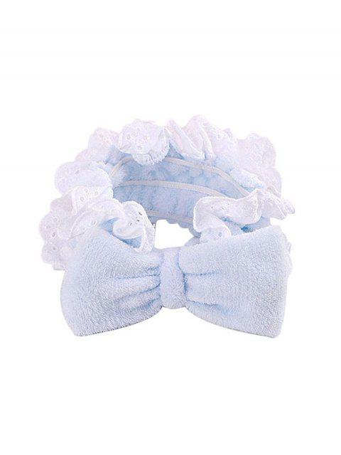 Bande de Cheveux Elastique en Dentelle avec Nœud Papillon - Bleu Bébé  Mobile