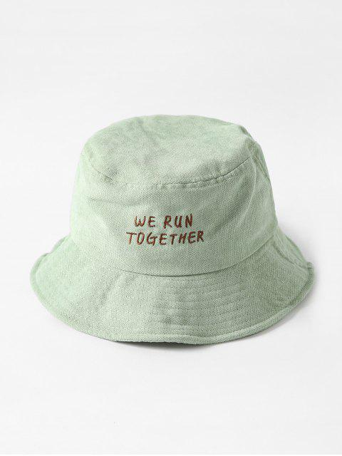 outfit Chic Character Embroidered Bucket Hat - PISTACHIO GREEN  Mobile
