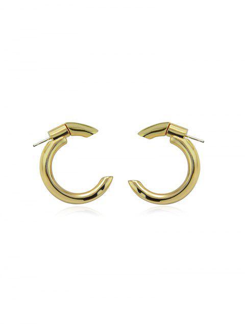 C-форма Серьги - Золотой  Mobile