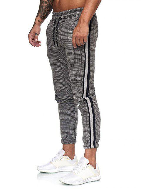 Pantalones Jogger Estampado Pata de Gallo Cordón - Multicolor-B 2XL Mobile