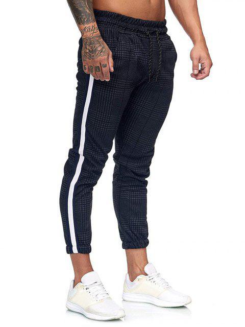 Pantalones Jogger Estampado Pata de Gallo Cordón - Multicolor-D 3XL Mobile