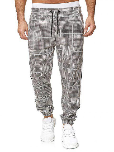 Pantalones Jogger Estampado Pata de Gallo Cordón - Multicolor-E 3XL Mobile