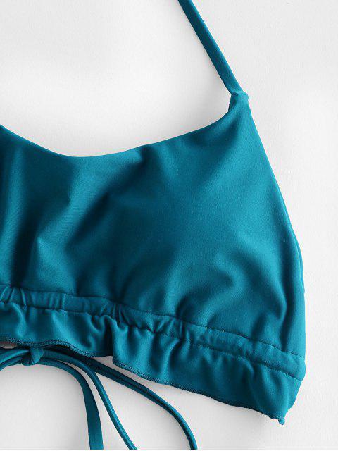 ZAFUL Bikini Badeanzug mit Neckholder - Pfauenblau M Mobile