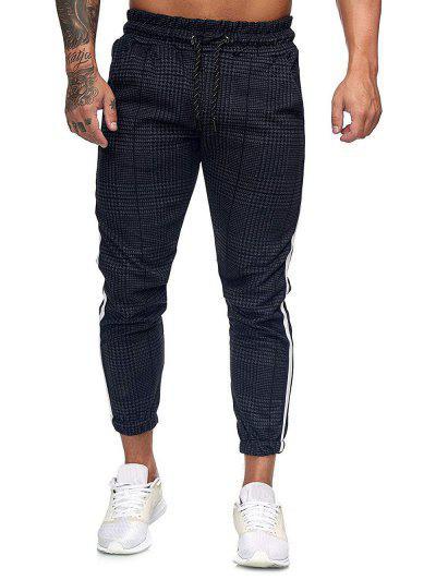 Pantalon De Jogging à Carreaux Imprimé à Cordon - Multi-d L