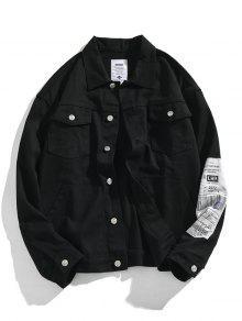 Applique Button Up Denim Jacket