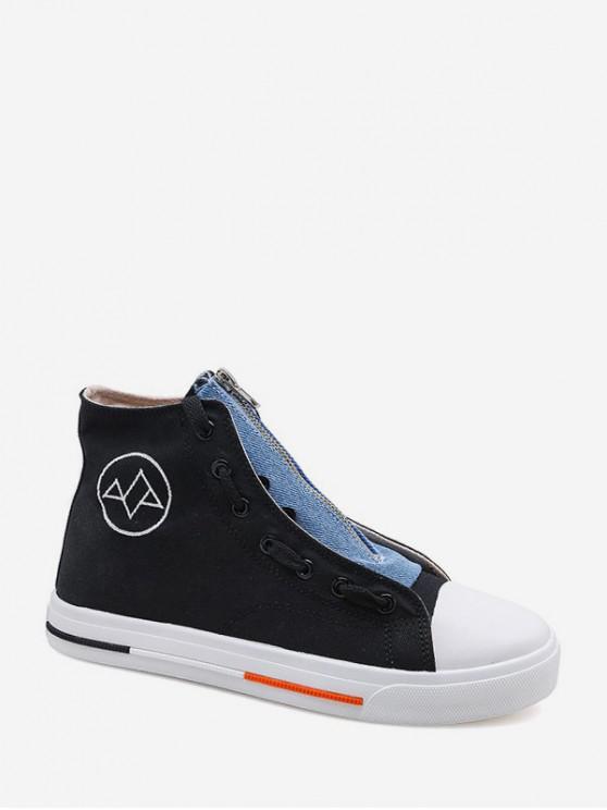 new Denim Panel Canvas High Top Shoes - MULTI-A EU 41