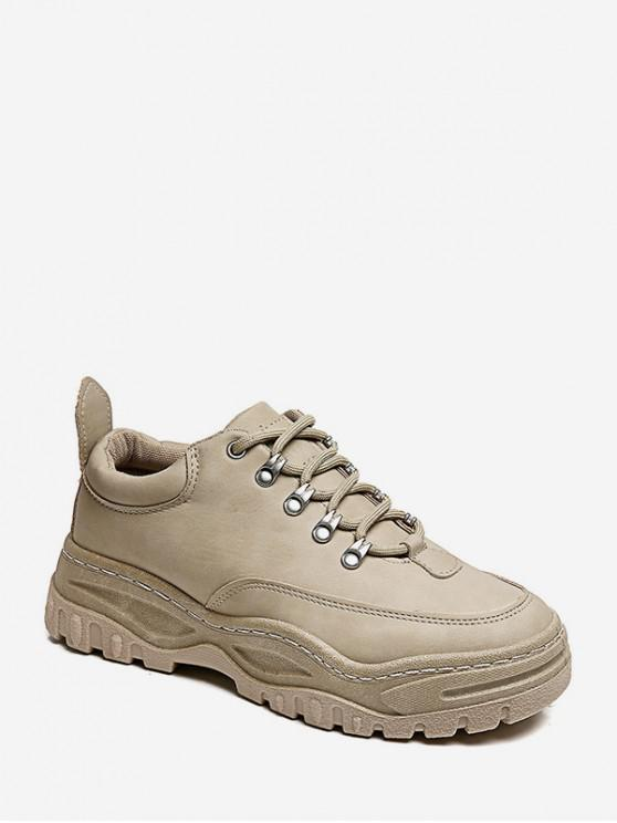 trendy Retro Low Top Platform Dad Sneakers - KHAKI EU 39