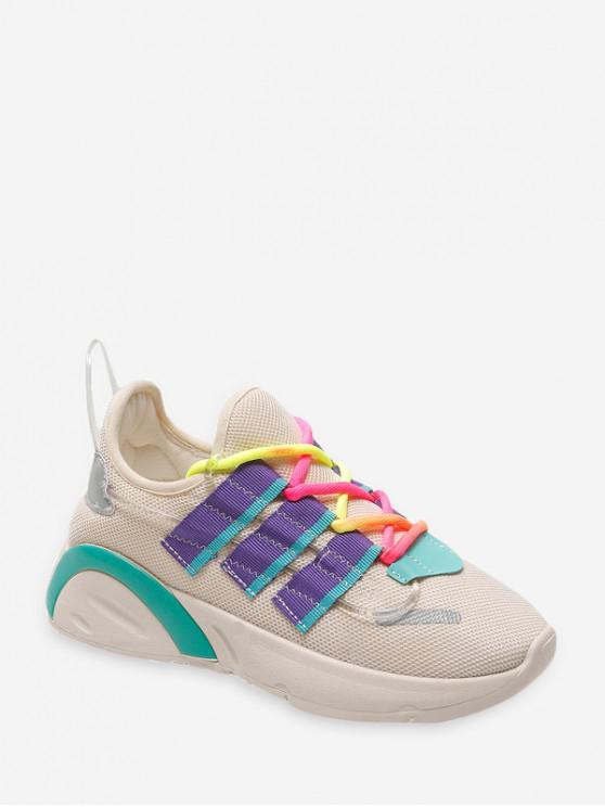 Chaussures de Course Respirantes en Blocs de Couleurs en Maille - Gris EU 39