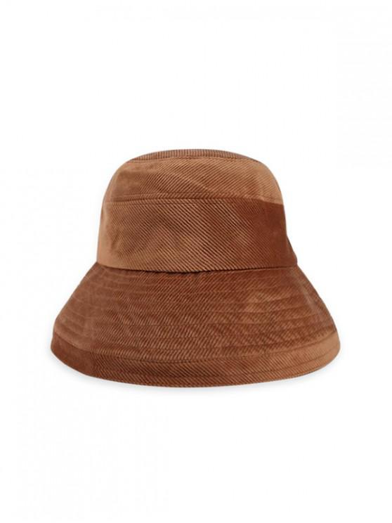 outfit Solid Corduroy Bucket Simple Hat - KHAKI