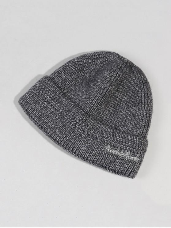 Chapeau d'Hiver Chic Tricoté en Laine - Gris Foncé