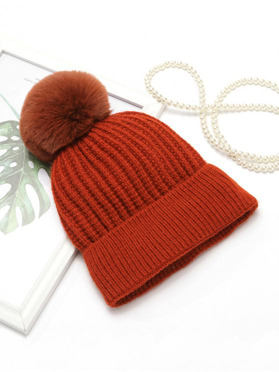 new Winter European Simple Knitted Hat - RED