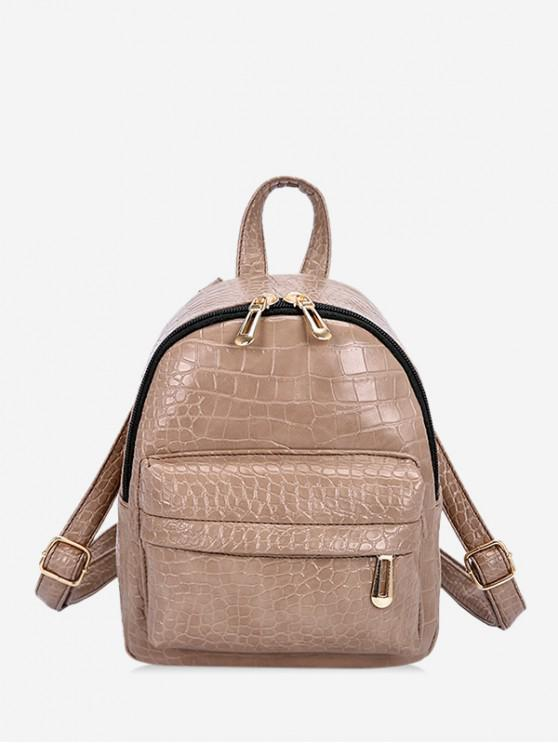 sale Snakeskin Mini Embossed Backpack - CHAMPAGNE
