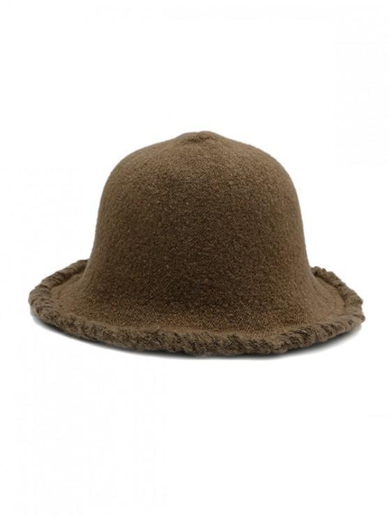 Mendigo invierno Estilo de lana del sombrero del cubo - Café