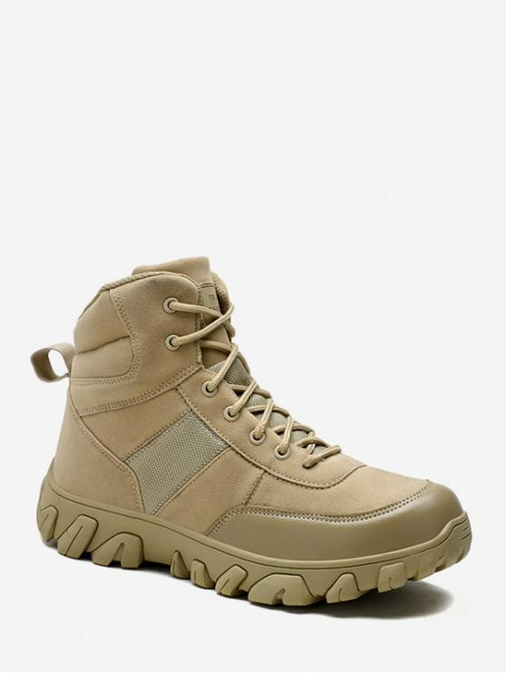 latest Non Slip Outdoor Combat Ankle Boots - APRICOT EU 41