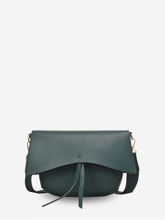 Sólido simple borla solo hombro del bolso de Crossbody - Azul Verdoso