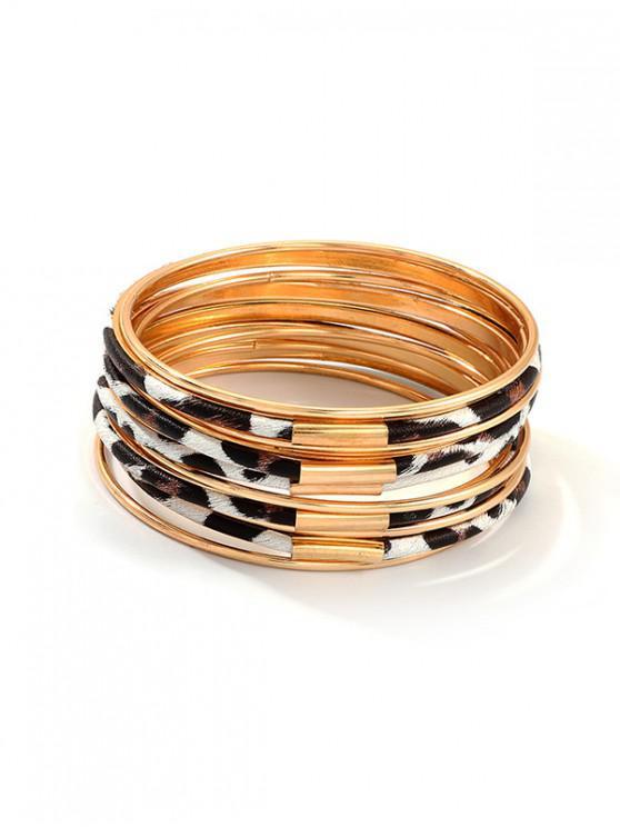 11 piezas de leopardo brazalete Conjunto - Leopardo