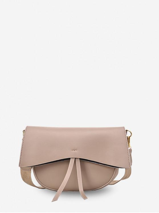 affordable Solid Simple Tassel Single Shoulder Crossbody Bag - LIGHT KHAKI