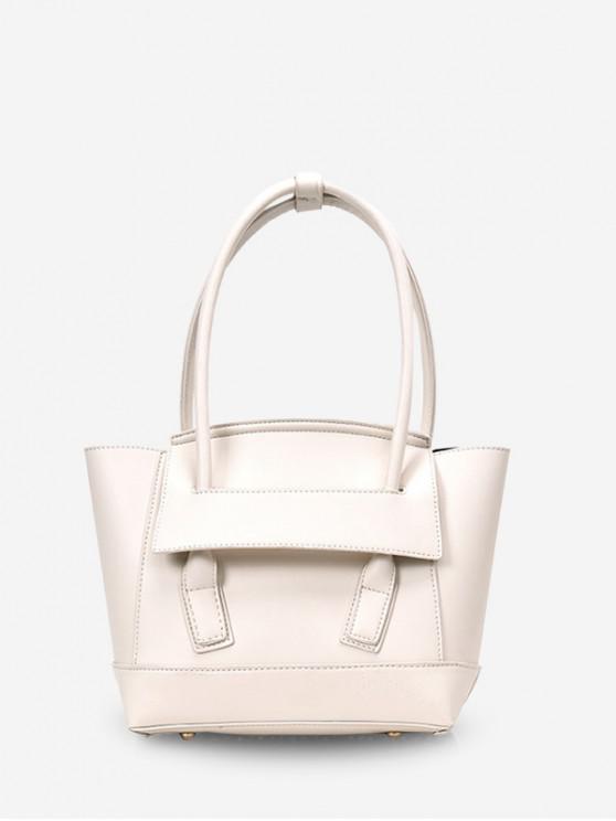 ladies Simple Solid Dumpling Shape Handbag - MILK WHITE