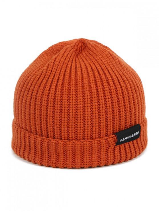 Chapeau d'Hiver en Couleur Unie en Laine - Caramel