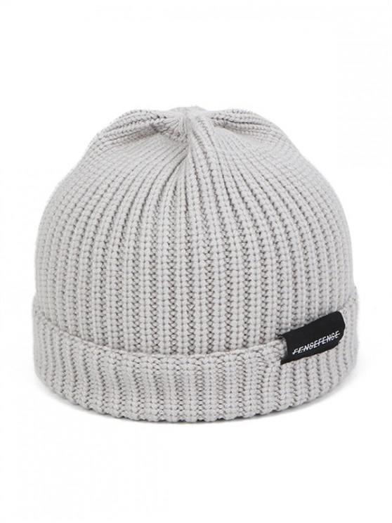 Hilados de lana sólido invierno sombrero hecho - Gris