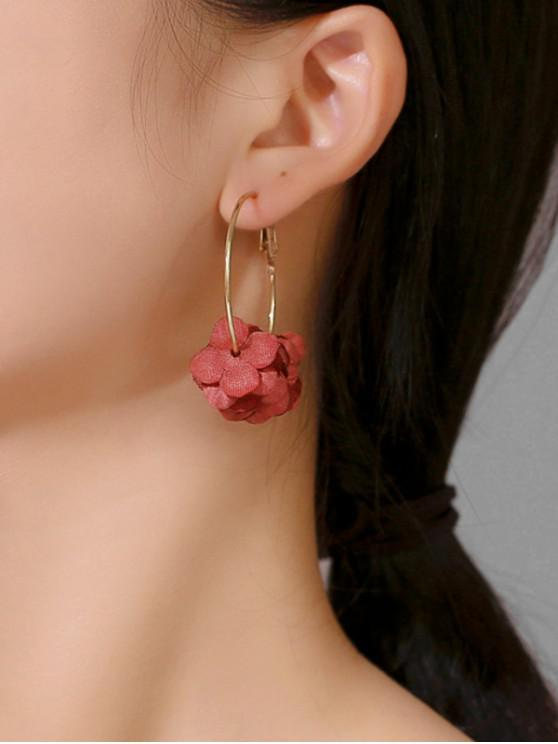 Pendientes en capas dulce floral del aro - Vino Tinto