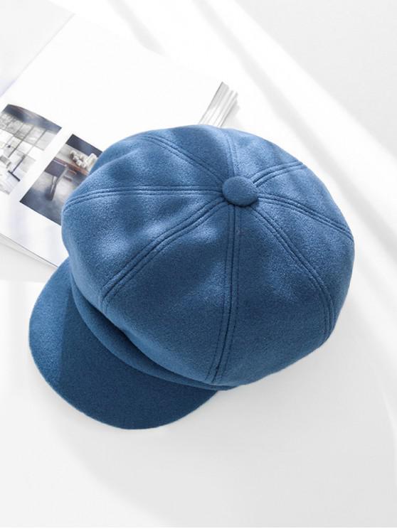 Sólido de pico de invierno octogonal sombrero de la boina - Azul Pizarra