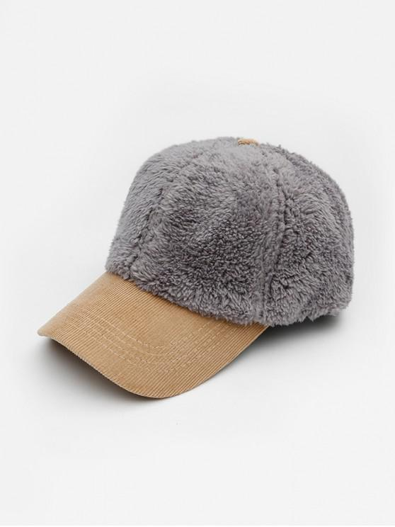 Chapeau d'Hiver de Baseball en Dain en Tissu - Gris