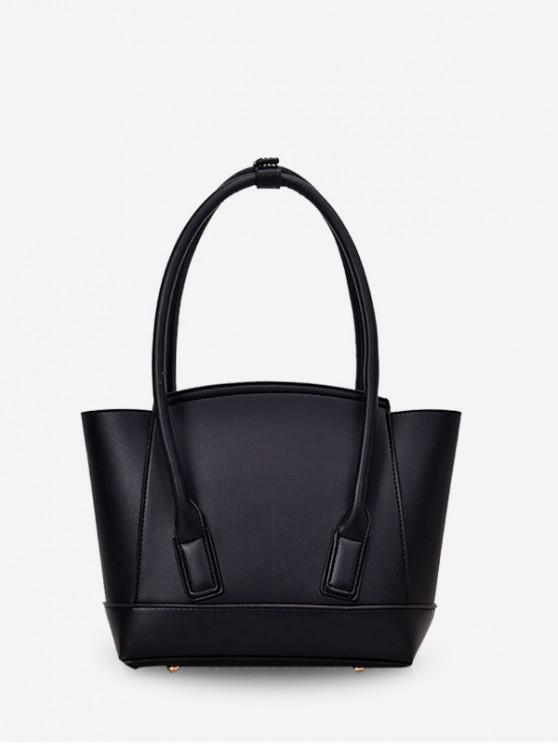 new Simple Solid Dumpling Shape Handbag - BLACK