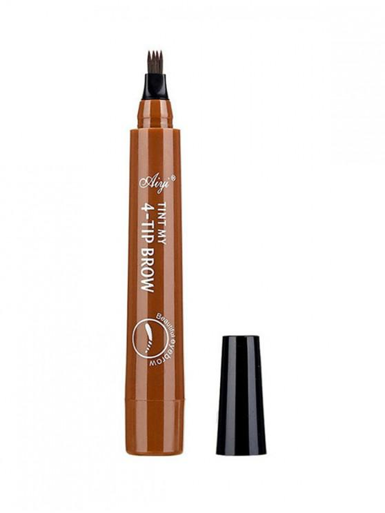 outfits Four-head Branch Lasting Eyebrow Pen - LIGHT BROWN