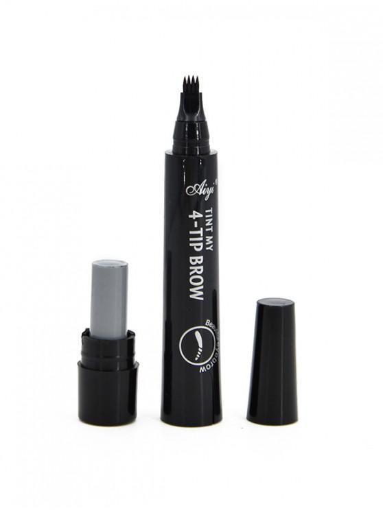 สาขาสี่หัว Lasting ปากกาเขียนคิ้ว - สีดำ