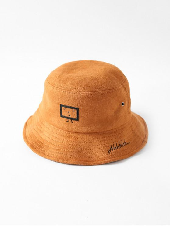 Вышивка мультфильма Шляпа-ведро - Карамельный цвет