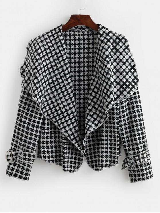 fashion Open Placket Contrast Waterfall Jacket - MULTI-A L