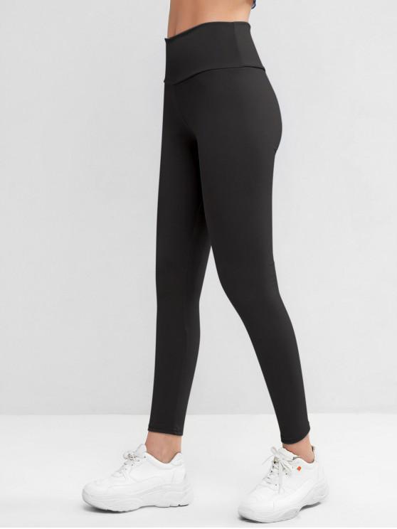 buy High Waisted Skinny Scrunch Butt Leggings - BLACK M