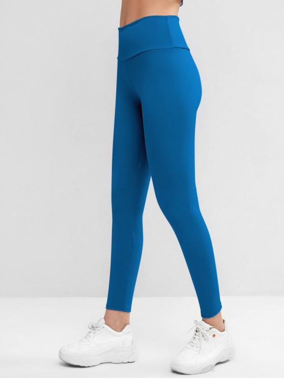 new High Waisted Skinny Scrunch Butt Leggings - BLUE IVY M