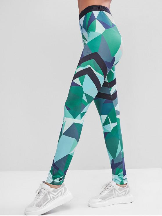 lady Camouflage Skinny Sport Leggings - MULTI L