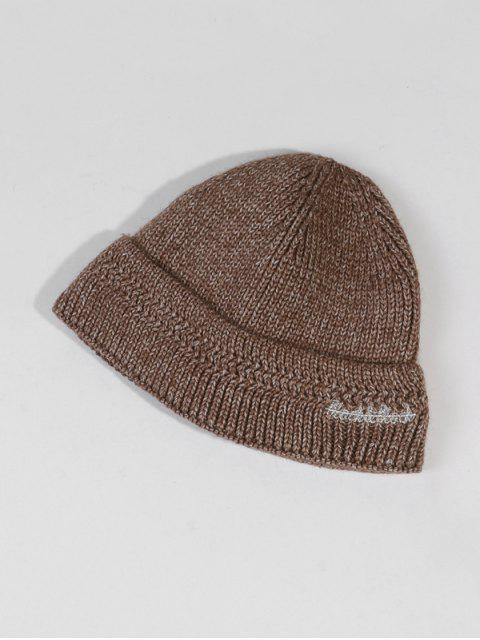 Chapeau d'Hiver Chic Tricoté en Laine - Kaki  Mobile