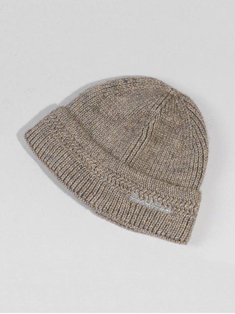 Chapeau d'Hiver Chic Tricoté en Laine - Gris Clair  Mobile