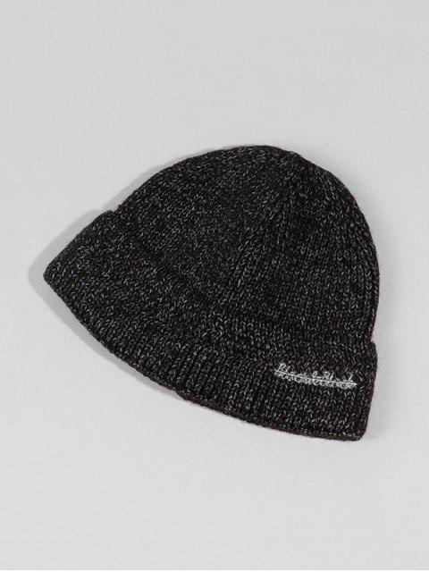Chapeau d'Hiver Chic Tricoté en Laine - Noir  Mobile